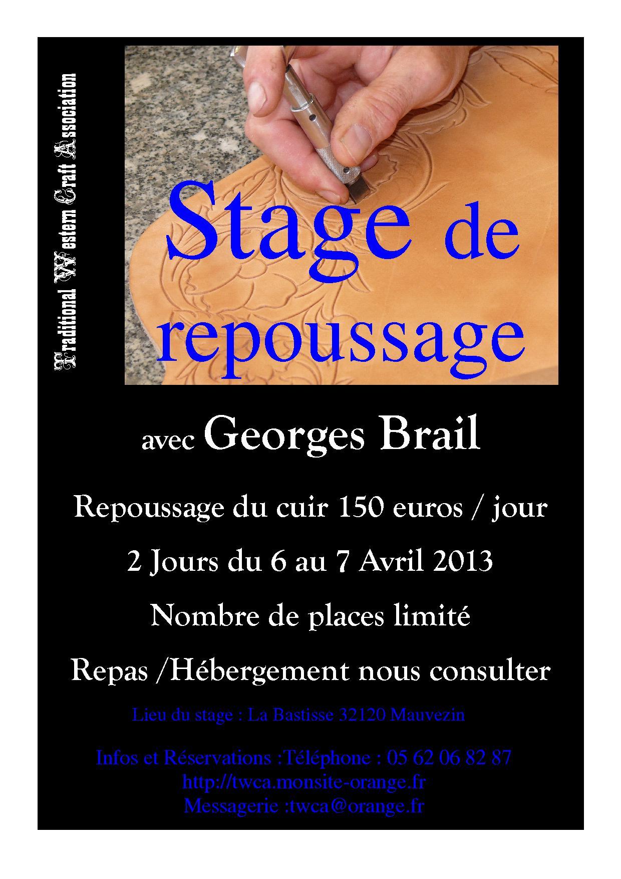 Stage organisé à la journée , vous pouvez réserver pour un jour ou les deux  . bf475a69b89